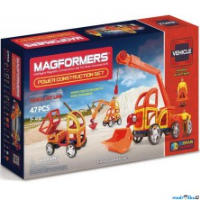 Magformers - Power Construction, Stavební auta PLUS, 47 ks