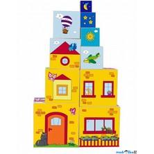 Pyramida - Věž z 10ti kostek, 5 motivů (Woody)