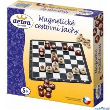 Šachy - Dřevěné cestovní magnetické (Detoa)