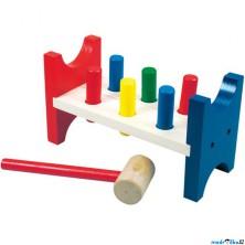 Zatloukačka - Barevná, 6 kolíků (Bino)