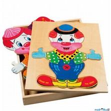 Puzzle oblékání - Šatní skříň klaun, 32ks (Bino)