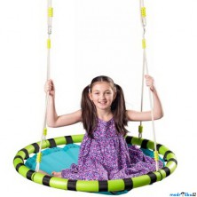 Houpačka - Houpací kruh, modrý, průměr 103cm (Woody)