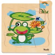 Puzzle výukové - Vývoj žáby, 20ks (Woody)