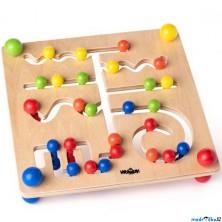 Motorický labyrint - Hlavolam s kuličkami (Woody)