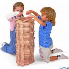 Kostky - Stavebnice Karla přírodní, 200 dílů (Woody)