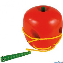 Provlékadlo - Jablko s červíkem, barevné (Woody)