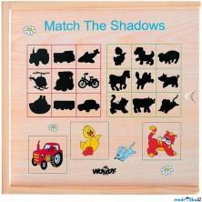 Puzzle stínové - Hledání stínů, Mašinka (Woody)