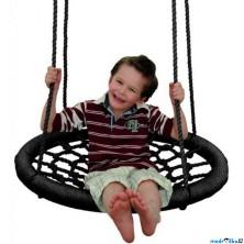 Houpačka - Houpací kruh, černý, průměr 85cm (Woody)