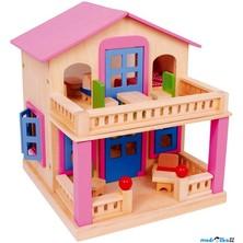 Domeček pro panenky - Klára, růžový s terasou (Legler)