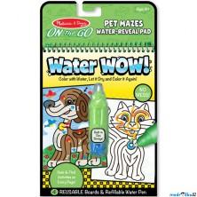 Omalovánky - Kouzlení vodou, Bludiště mazlíčci (M&D)