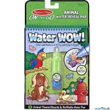 Omalovánky - Kouzlení vodou, Zvířátka (M&D)