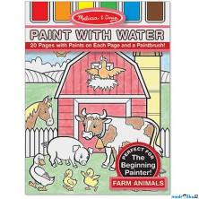 Omalovánky - Malování s vodou, Zvířata na farmě (M&D)