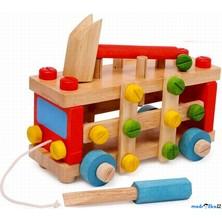 Auto montážní - Konstrukční auto, zatloukačka (Legler)