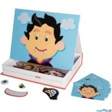 Puzzle magnetické - Kniha, Obličeje kluk (Goki)