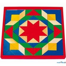 Mozaika - Barevná na desce, 80 dílků (Legler)