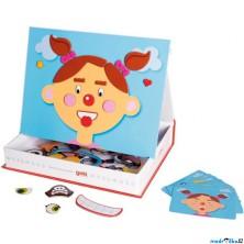 Puzzle magnetické - Kniha, Obličeje holka (Goki)