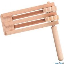 Hudba - Řehtačka dřevěná dvojitá (Goki)
