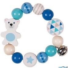 Chrastítko - Kroužek korálkový Lední medvěd (Heimess)