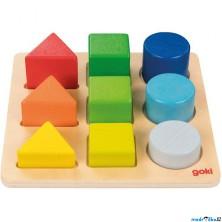 Vkládačka - Třídíme tvary a barvy na desce (Goki)