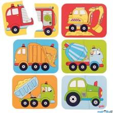 Puzzle pro nejmenší - Dopravní prostředky, 12ks (Goki)