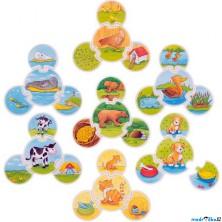 Puzzle výukové - Přiřazovací hra zvířátka (Goki)