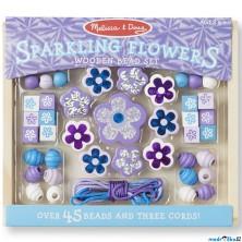 Navlékací perle - Set korálků, Květy 45ks (M&D)