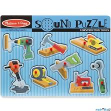 Puzzle muzikální - Pracovní nářadí, 8ks (M&D)