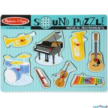 Puzzle muzikální - Hudební nástroje, 8ks (M&D)