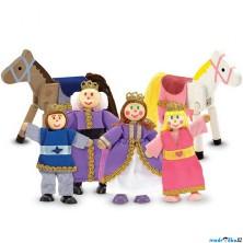 Panenky do domečku - Královská rodina, 6ks (M&D)