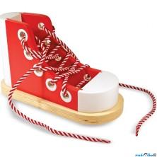 Šněrování - Dřevěná bota a zavazování tkaničky (M&D)
