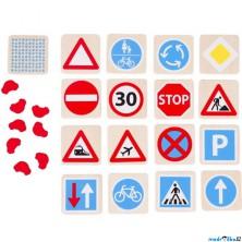 Pexeso - Dopravní značky, 32ks (Goki)