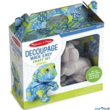 Kreativní sada - Decoupage, Štěně (M&D)