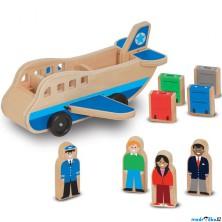 Letadlo - Dřevěné dopravní na kolečkách (M&D)