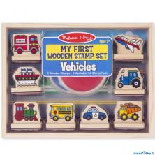 Razítka dřevěná - Razítka pro nejmenší, Dopravní prostředky (M&D)