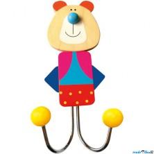 Věšák dřevěný - Dvojvěšák, Medvěd (Bino)
