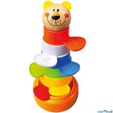 Hračky na písek - Barevná věž, bábovičky 2v1 (Bino)