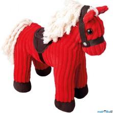Plyšová hračka - Manšestrový koník se zvuky červený (Mertens)