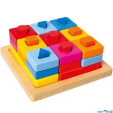 Vkládačka - Vkládací tvary na desce barevné (Mertens)