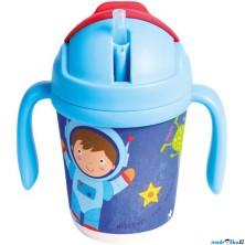 Hrneček s brčkem - 250 ml, Astronaut (Mertens)