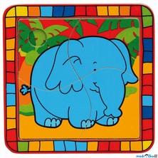 Puzzle pro nejmenší - Na desce, Slon (Bino)