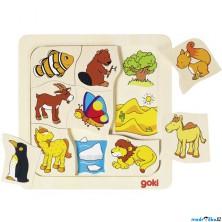 Puzzle výukové - Kde žijí zvířátka (Goki)