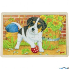 Puzzle na desce - Malý pejsek, 24ks (Goki)