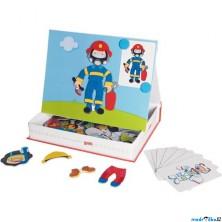 Puzzle magnetické - Kniha, Převleky kluk (Goki)