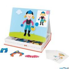 Puzzle magnetické - Kniha, Převleky holka (Goki)