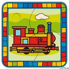 Puzzle pro nejmenší - Na desce, Lokomotiva (Bino)