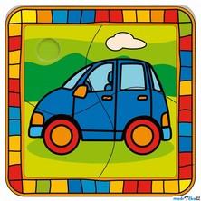 Puzzle pro nejmenší - Na desce, Auto (Bino)