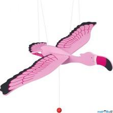 Závěsná hračka - Plameňák růžový (Goki)