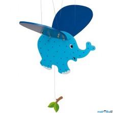 Závěsná hračka - Modré slůně (Goki)
