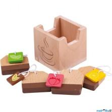 Kuchyň - Čajové sáčky dřevěné, 4ks (Bigjigs)