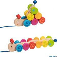 Tahací hračka - Housenka duhová (Goki)